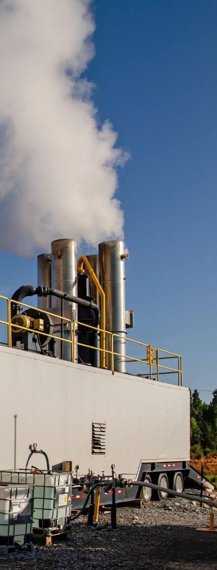 side view of skagen water disposal unit